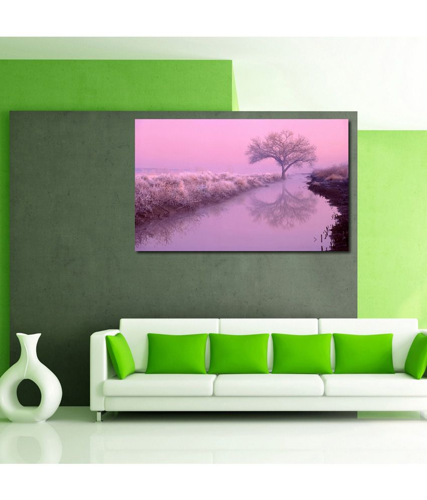999Store Ice At Trees Printed Modern Wall Art Painting - Large Size