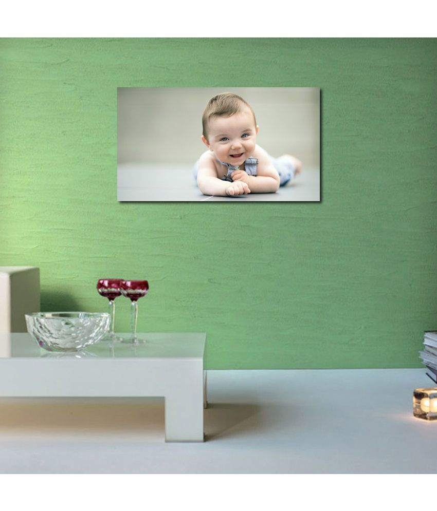999Store Laughing Baby Printed Modern Wall Art Painting - Large Size