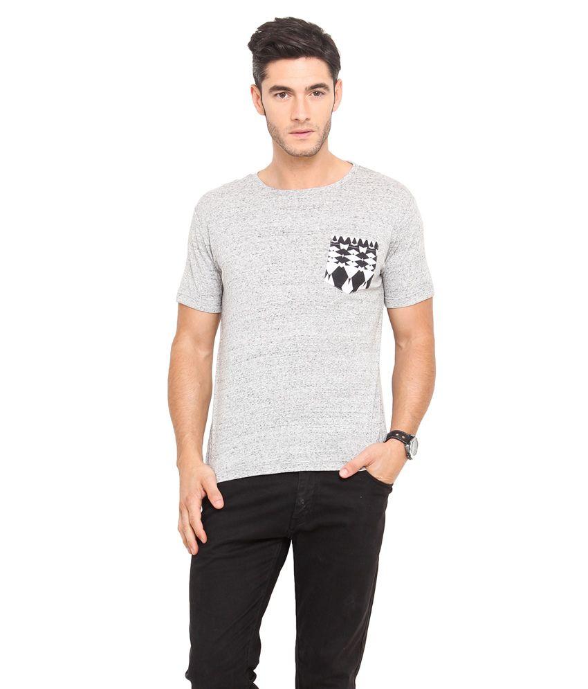 Northern Lights Gray Coloured Nap Yarn T-Shirt