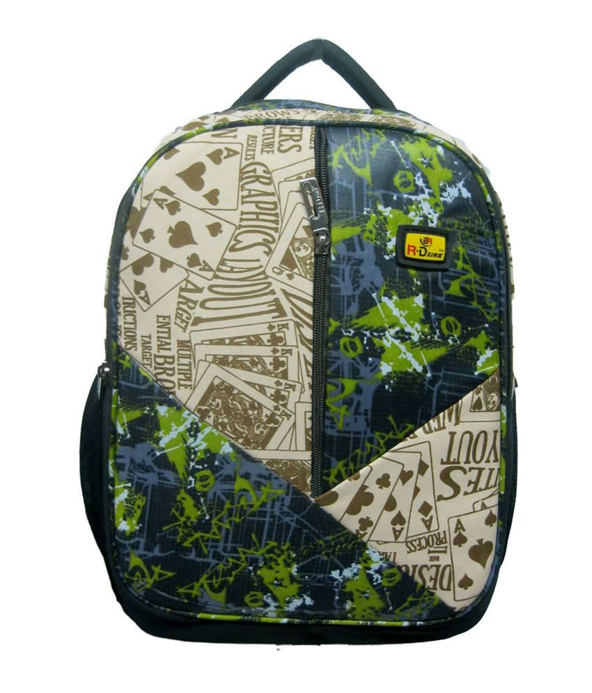 R-Dzire Mehendi Water Resistant Laptop Backpack