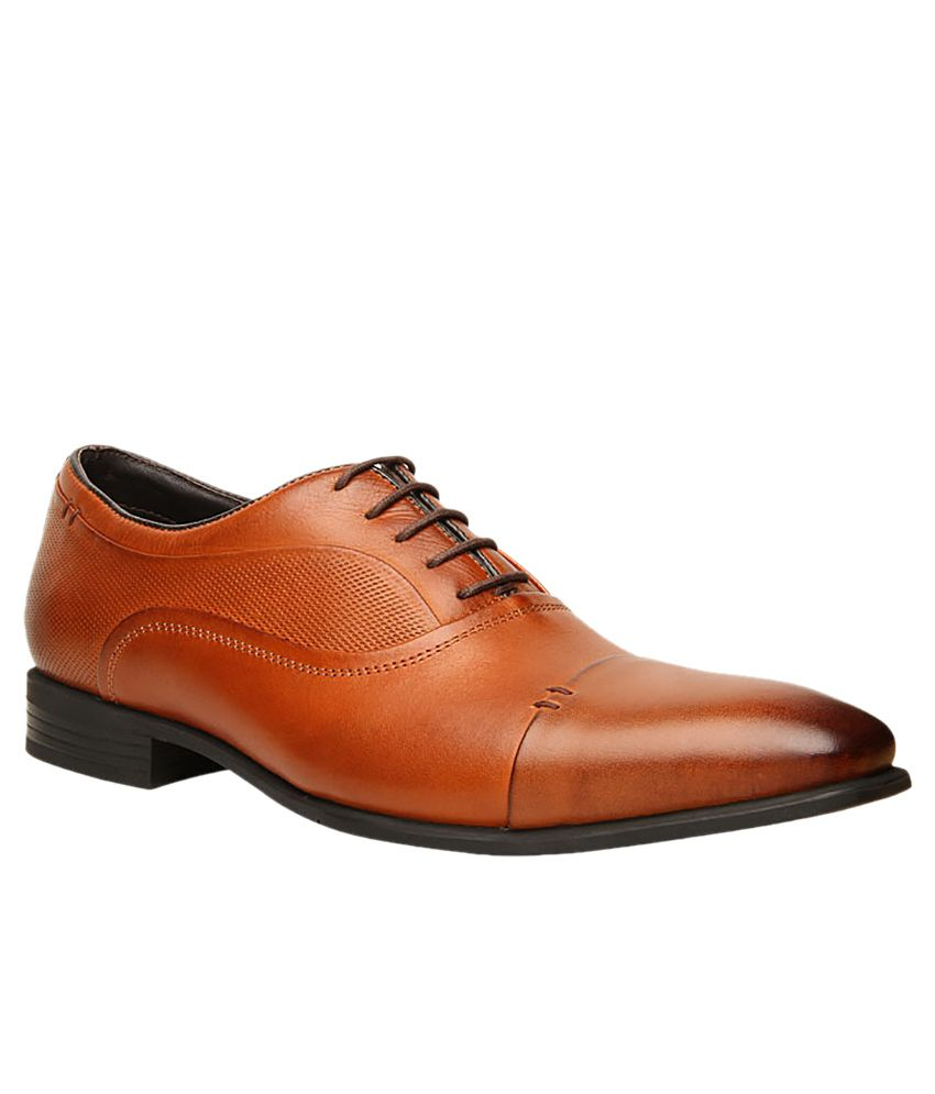 Hush Puppies Tan Formal Shoes Price in