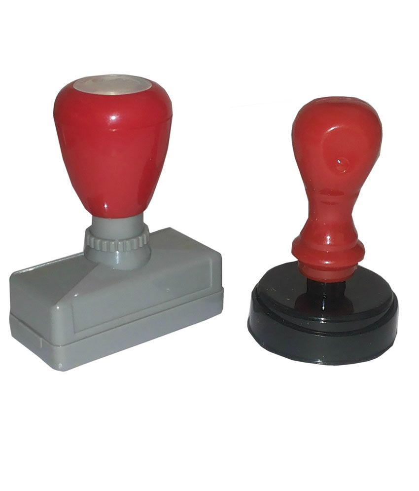 Kanchan Solutions LCD Self Inked Stamp - Combo Of 2