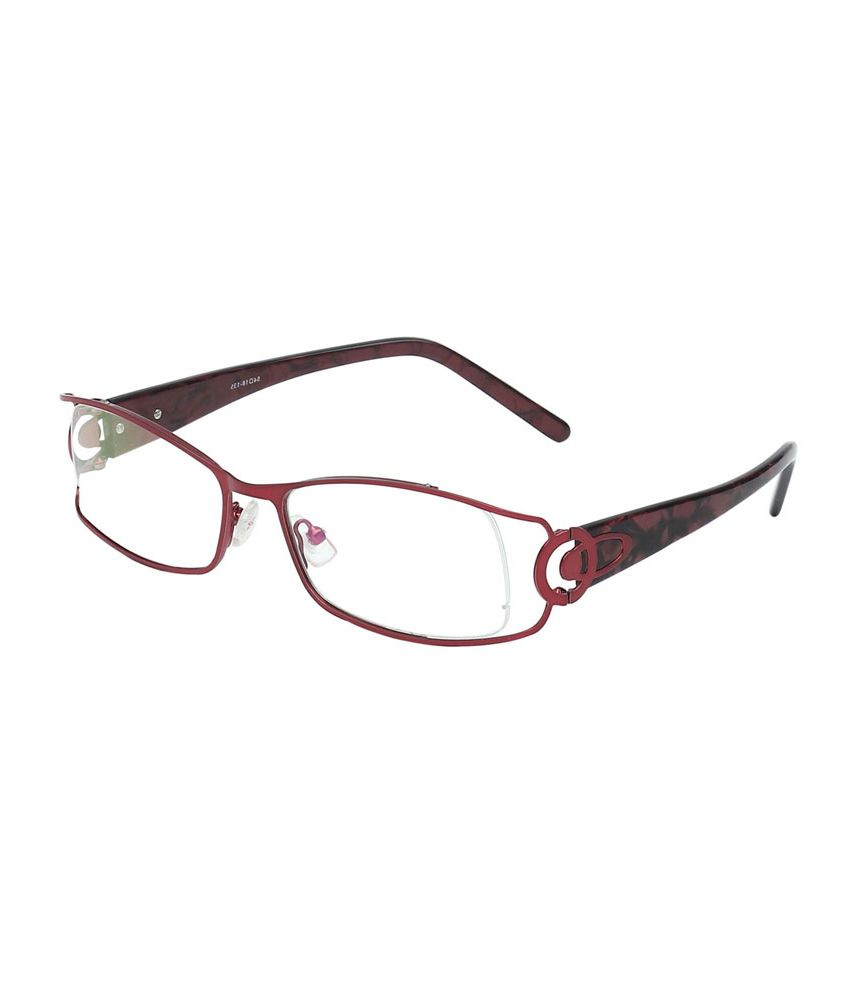 Hawai Maroon Frame Metal Rectangle Women Reading Eyeglasses - Buy ...