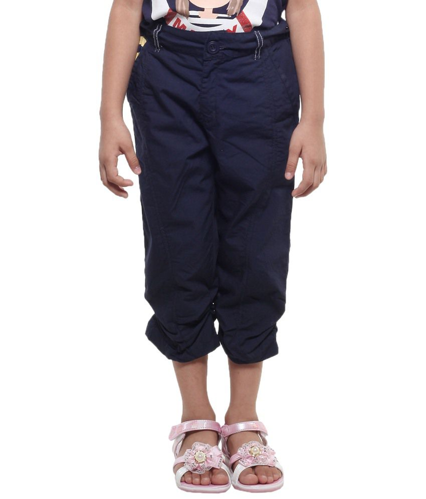 Stop By Shoppers Stop Black Cotton Capris For Girls