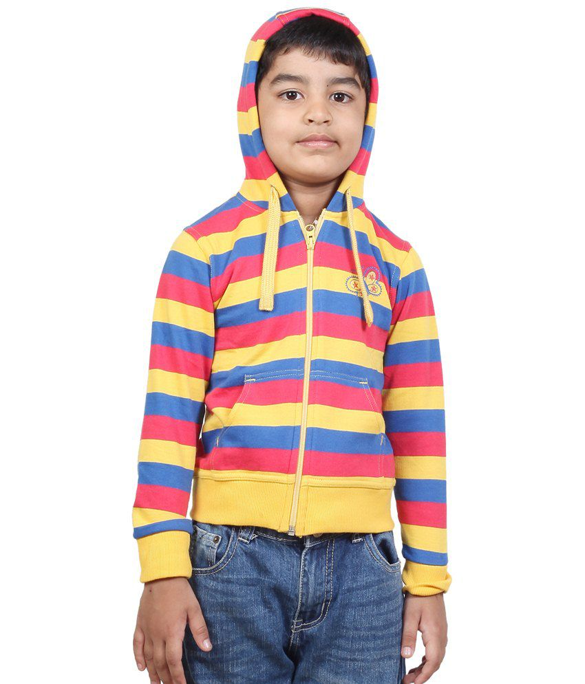 Stop By Shoppers Stop Multicolour Polycotton Sweatshirt For Girls