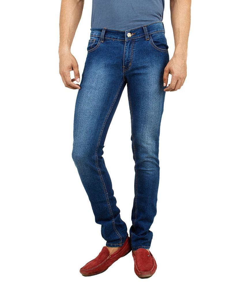 Stylox Blue Cotton Slim Jeans