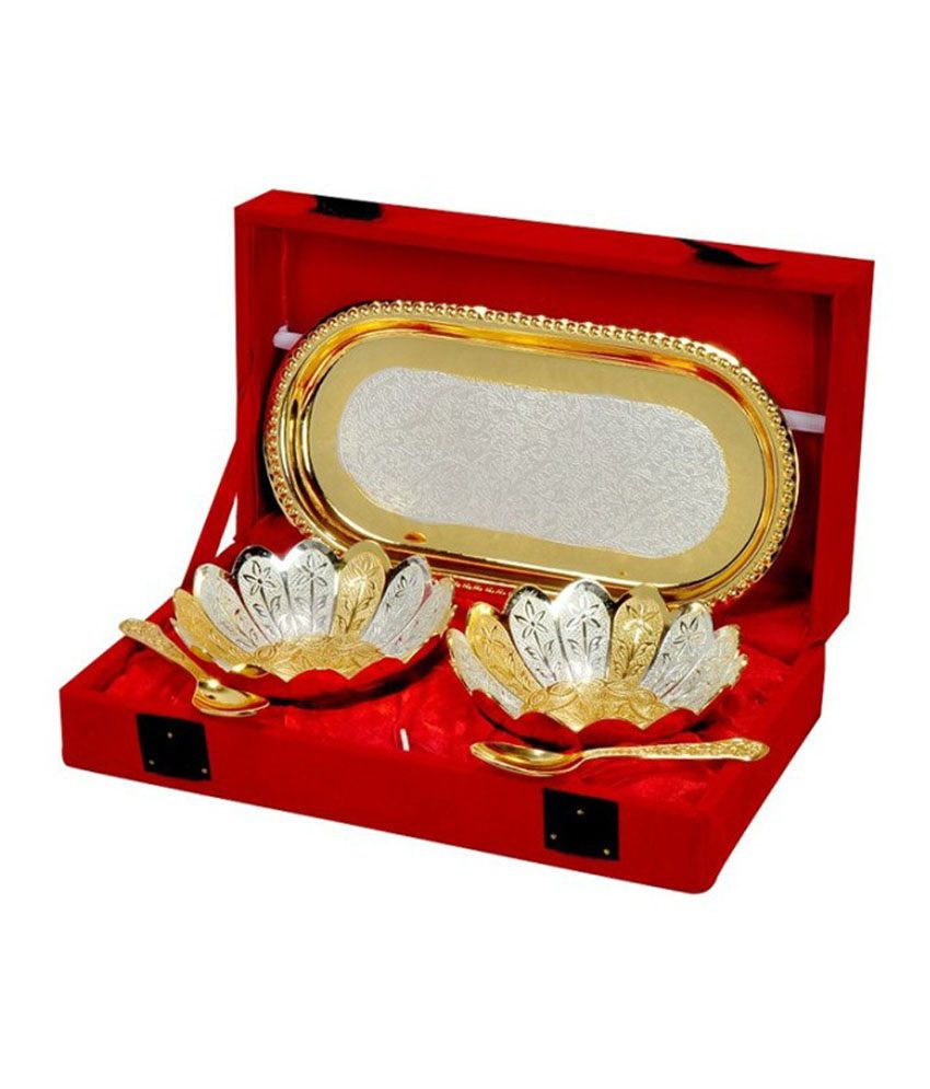 Being Nawab Exclusively Designed Lotus Shaped Bowl - Set of 5 pieces