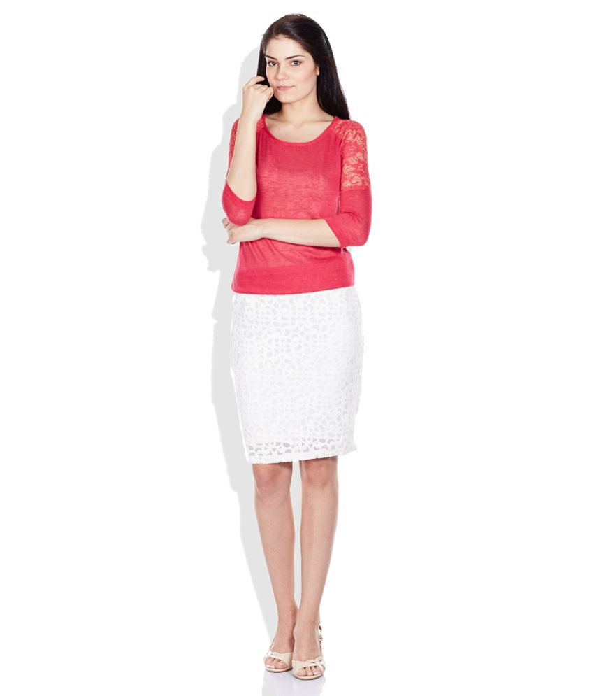 Buy Code White Pencil Short Skirt Online at Best Prices in India ...