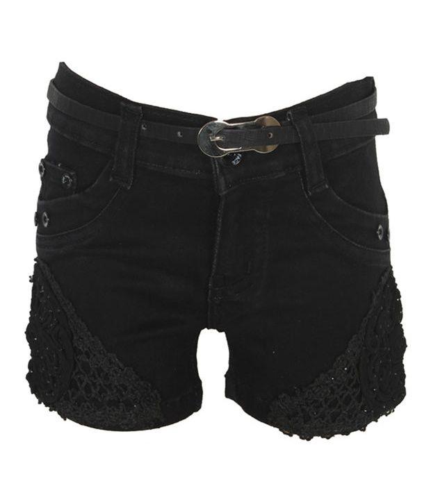 Eight26 Black Denim Shorts
