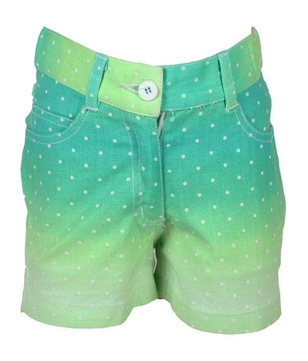 Eight26 Green Denim Shorts