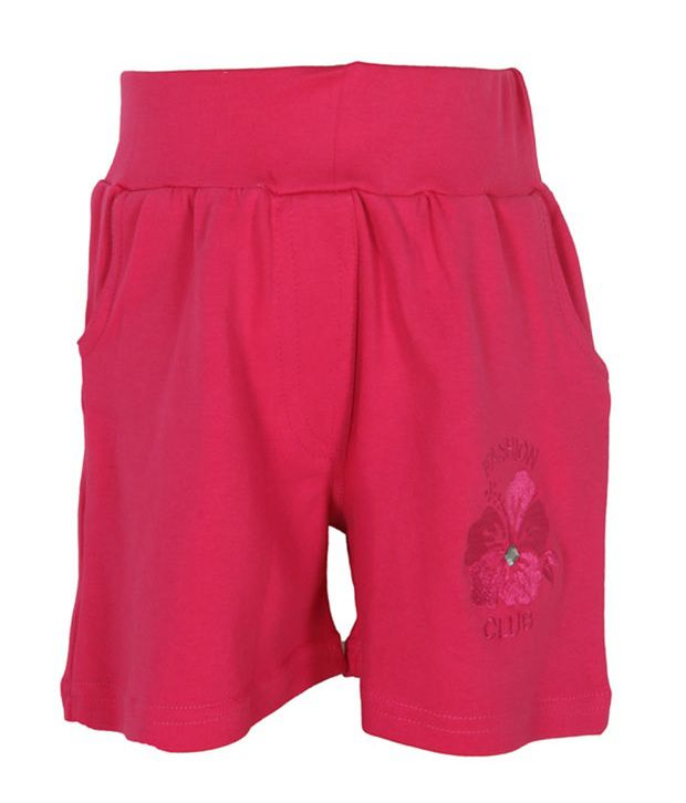 Eight26 Pink Cotton Shorts