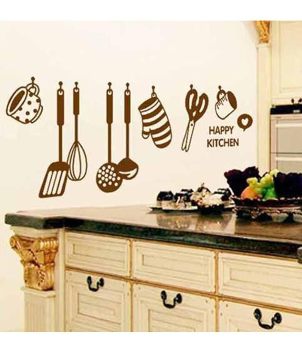 Compare Prices On Purple Kitchen Decor Online Shopping: StickersKart Wall Stickers Wall Decals Stylish Kitchen Art