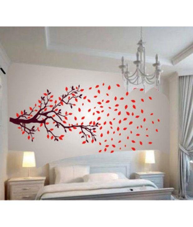 stickerskart lovely autumn tree wall stickers (210 cms) - buy