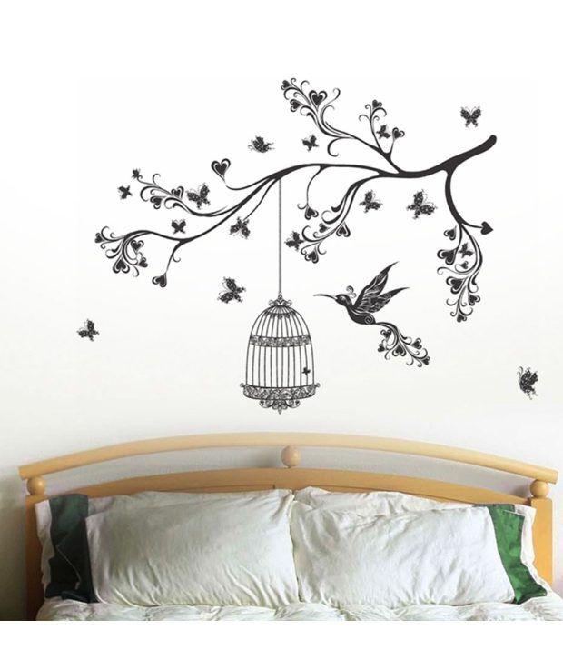 stickerskart wall stickers headboard design with art 57135 (50x70