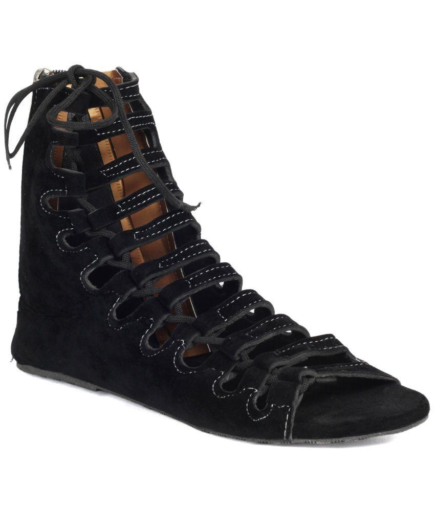 Black sandals online - Jade Black Flats
