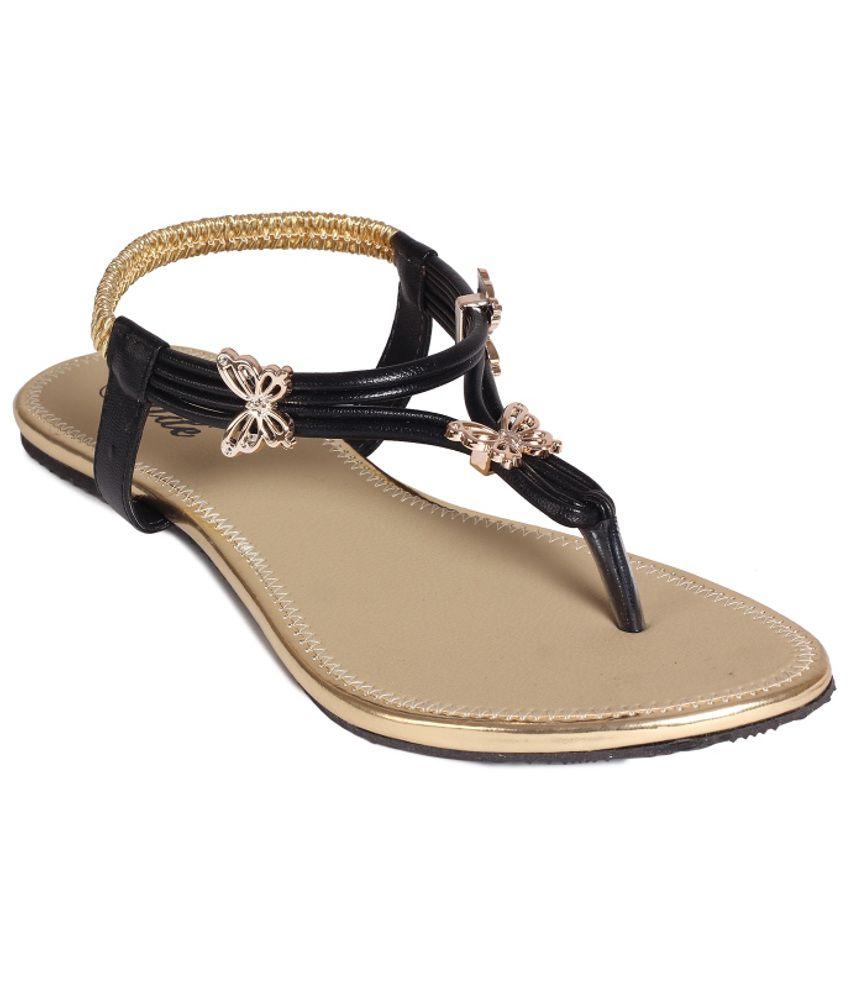 Jade Stylish Black Sandals