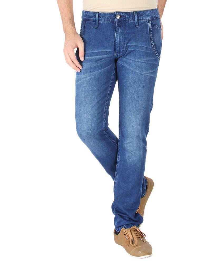 Slub Fine Looking Navy Slim Fit Jeans