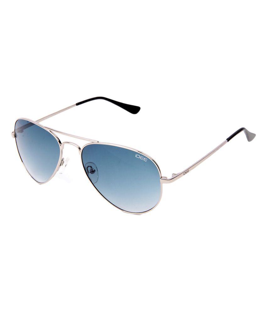 Idee c42000 Blue Lens Aviator Sunglasses