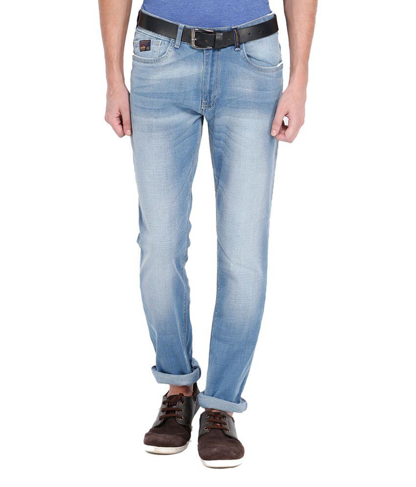 Locomotive Blue Slim Fit Cotton Blend Jeans