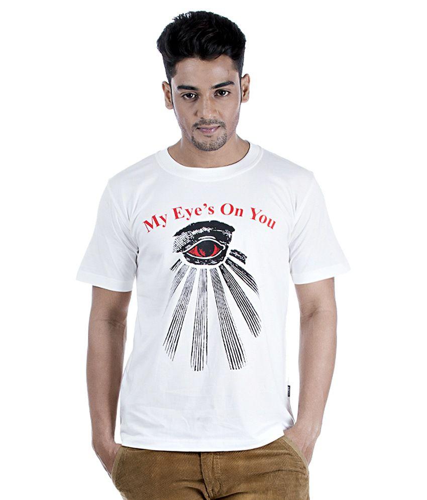 TSG Escape Men's Round Neck Printed T-shirt Ghost White