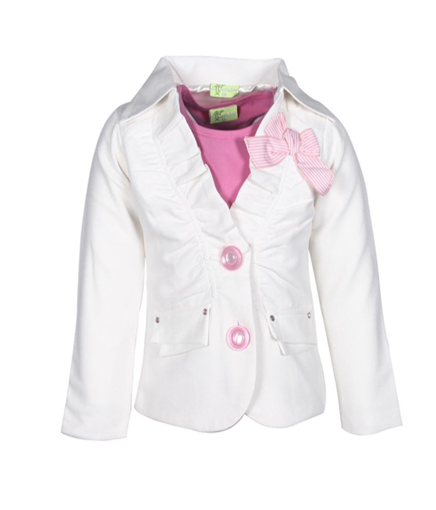Cutecumber Pink Full Sleeves Coat Without Hood
