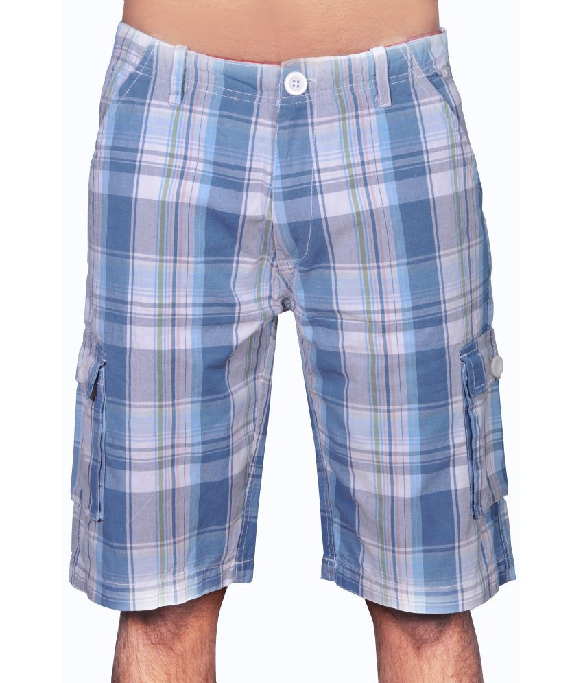 GG Cotton Checks Shorts