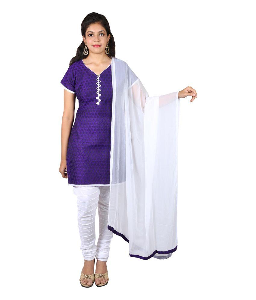 Ginni 6 Purple Plain Dori Embroidery Salwar Suit