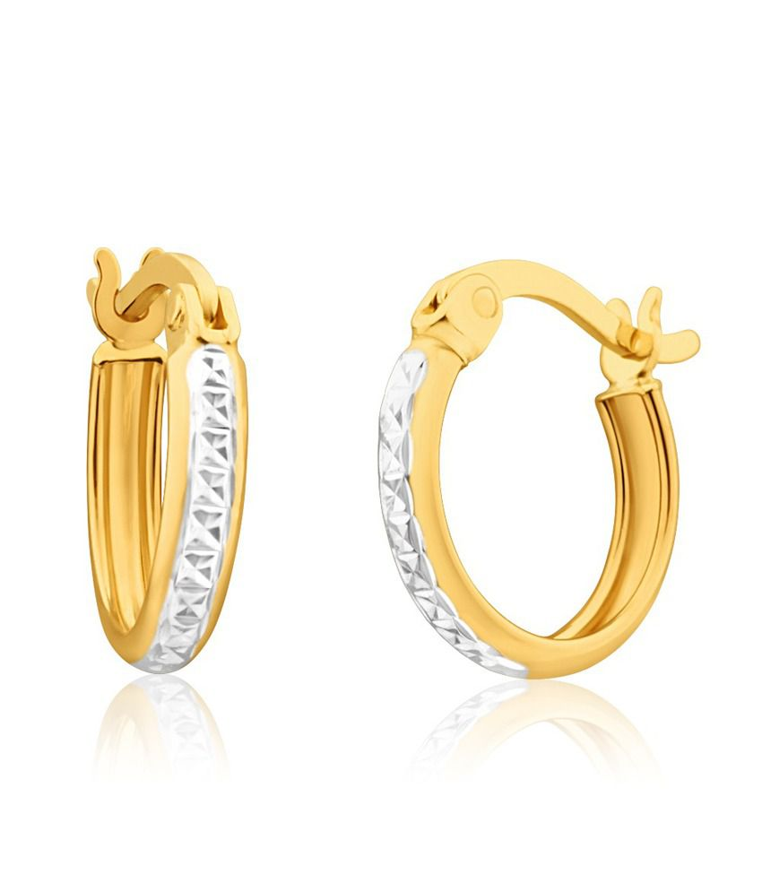 Aiza Certified Real Diamond Hallmarked Spark Beautifully Gold Earrings