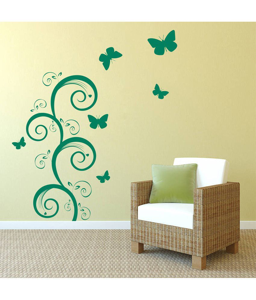 decor kafe green wall stickers buy decor kafe green wall duplex green landscape vinyl wall stickers for kids rooms