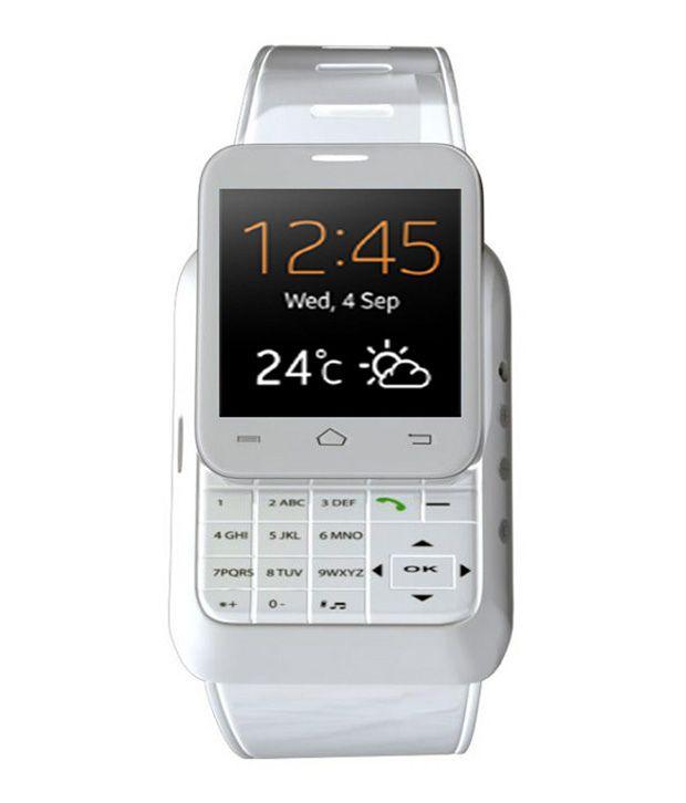 Wearable Smartwatches Online At: Kenxinda W1 S White Dual Sim Smart Watch