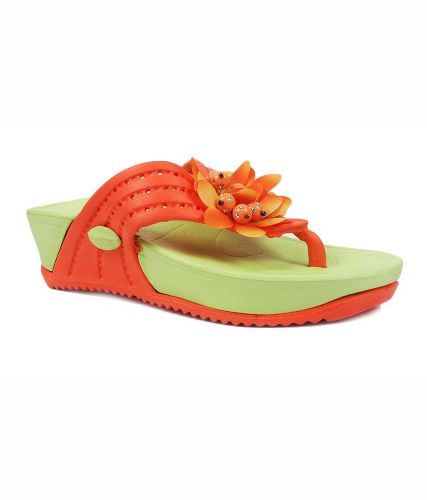 Aalisha Orange EVA Flat Slippers For Women