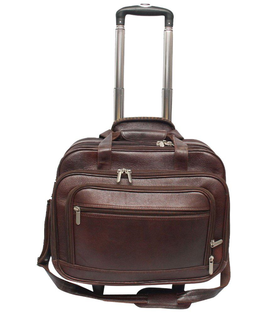 C Comfort Brown Luggage Bag