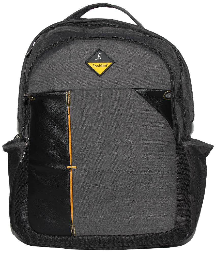 C Comfort Gray & Black Backpack