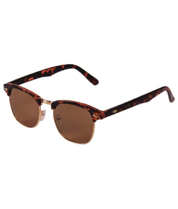 99a5dbd1bc Floyd Red   Brown Clubmaster Sunglasses - Buy Floyd Red   Brown Clubmaster  Sunglasses Online at Low Price - Snapdeal