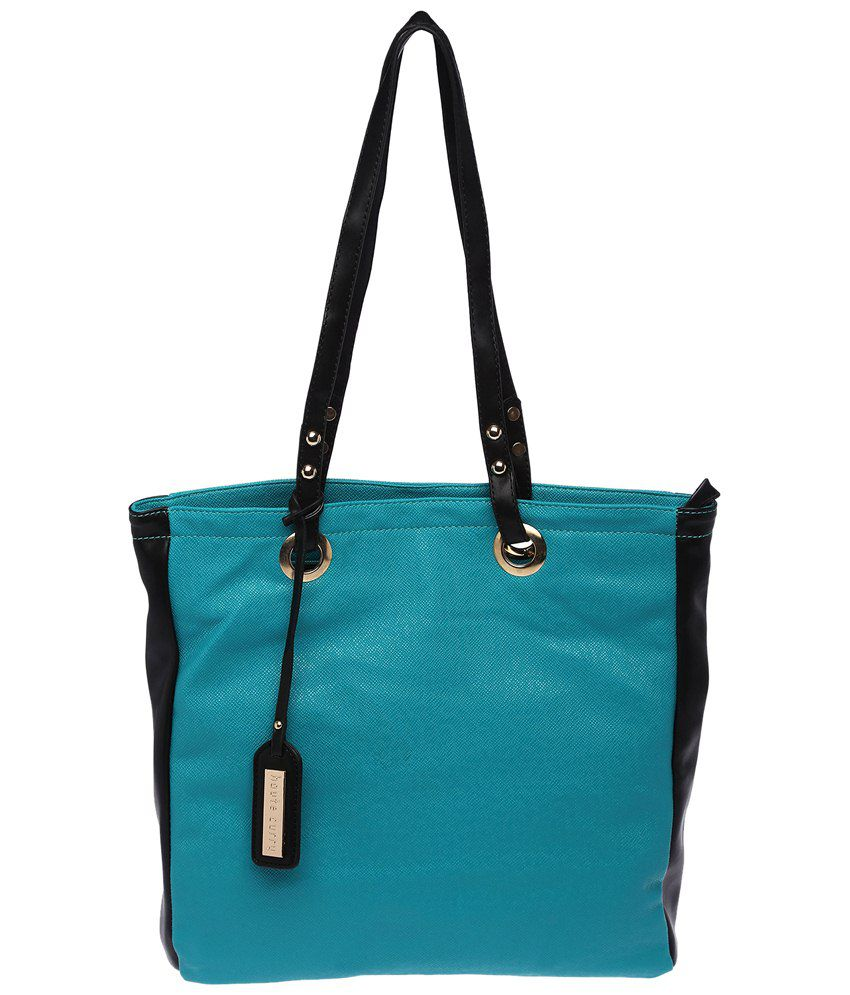 Haute Curry 8779548-BLUE Turquoise Tote Bags