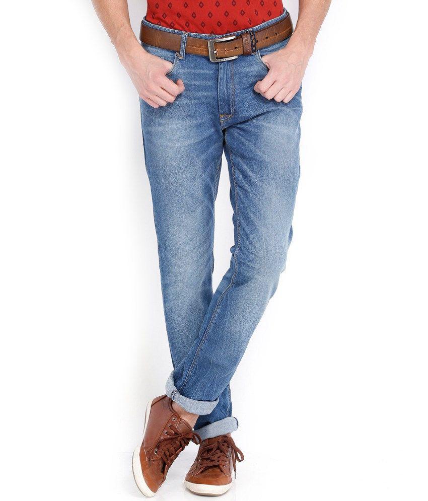Locomotive Blue Cotton Blend Jeans