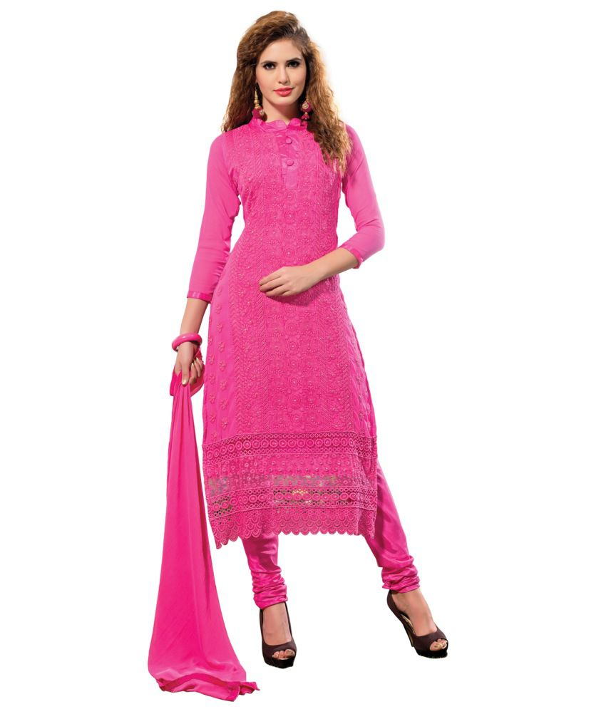 Manvaa embroidered chiffon dress material buy
