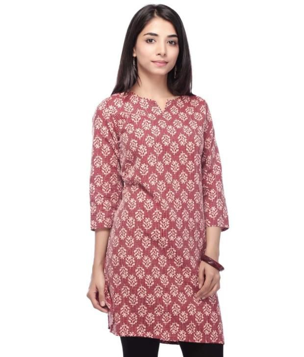 Stop By Shoppers Stop Maroon Printed Kurti