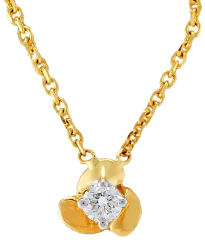 D'damas Awesome 18 Kt Gold Plated Diamond Pendant: Buy D