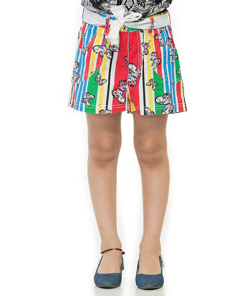 Oxolloxo Cotton Printed Beautiful Shorts For Girls