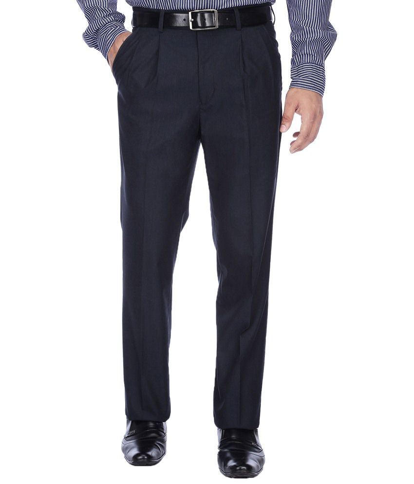 Stop By Shoppers Fashionable Blue Formal Trouser