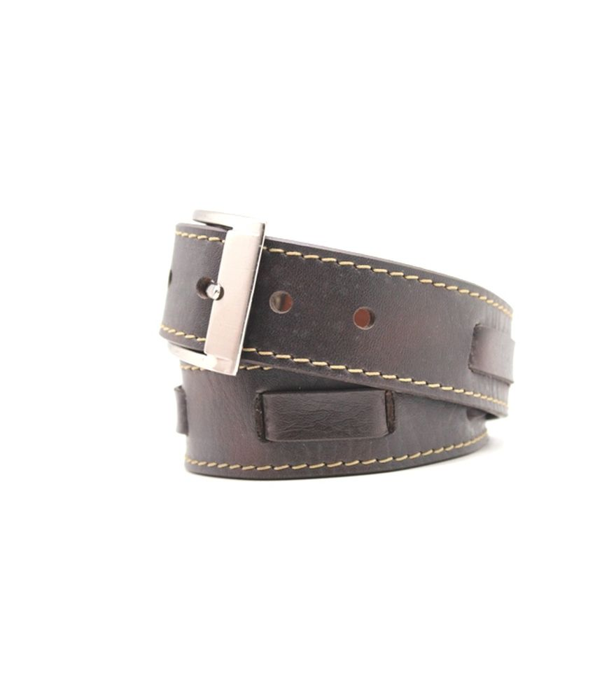 Urban Vintage Brown Leather Single Casual Belt For Men