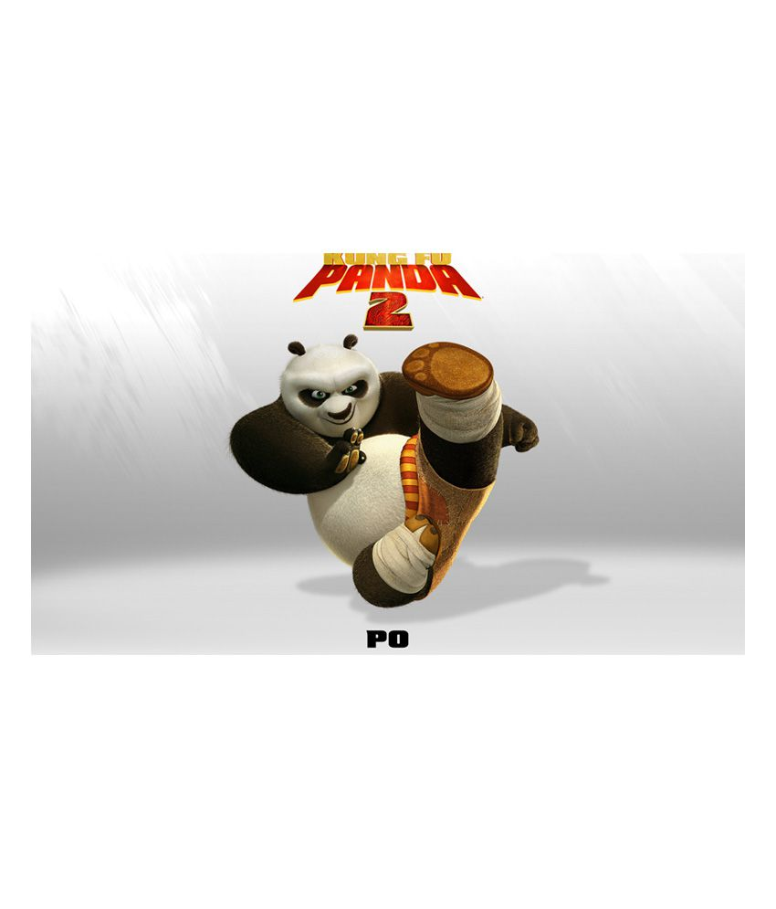 Mntc Textured Kung Fu Panda Cartoon Poster