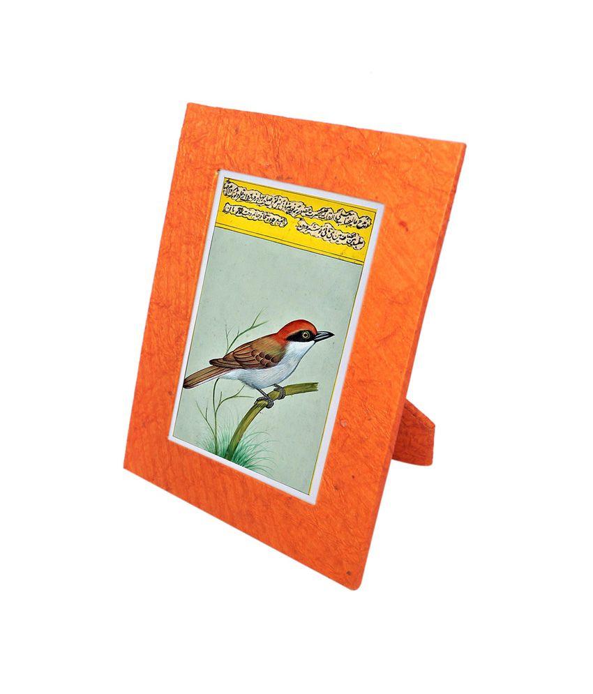 R S Jewels Orange Handmade Paper Table Photo Frame