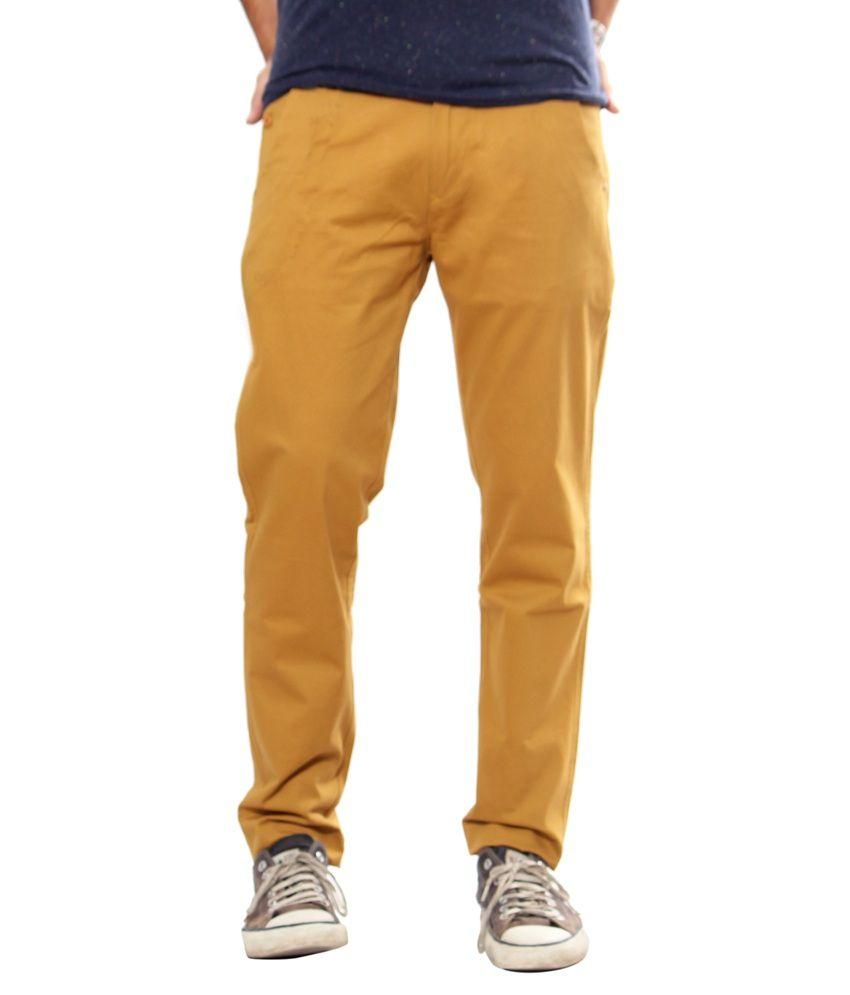 Uber Urban Yellow Slim Chinos Trouser