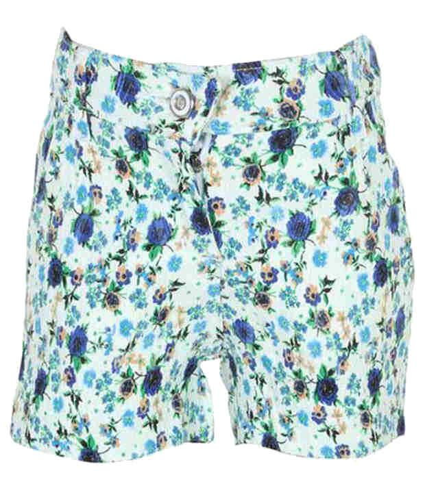 Eight 26 Blue Cotton Shorts