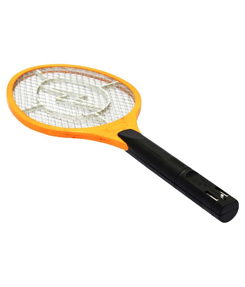Homeneeds Orange Rechargeable Mosquito Killing Racket