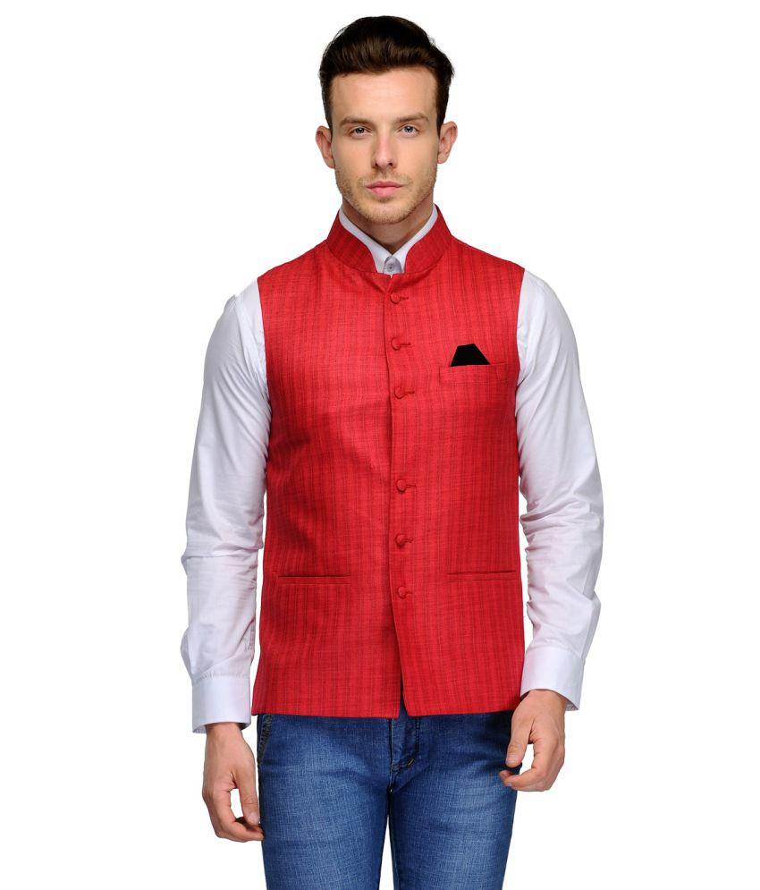 Platinum Studio Pink Cotton Waistcoats
