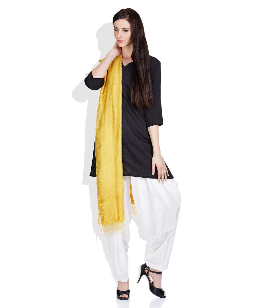 ceb240126c W Yellow Viscose Dupattas Price in India - Buy W Yellow Viscose ...