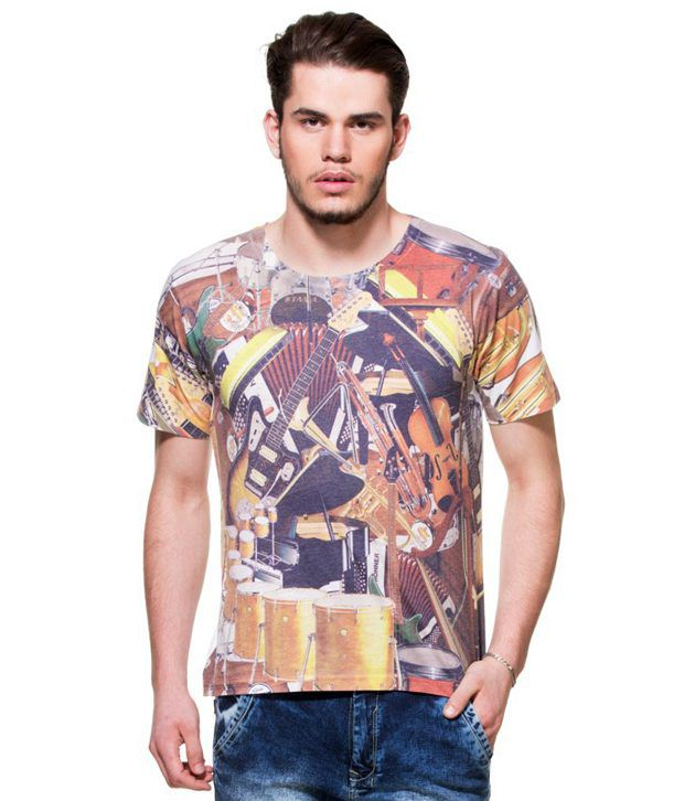 Zovi Music Rules White Graphic Sublimation T-shirt